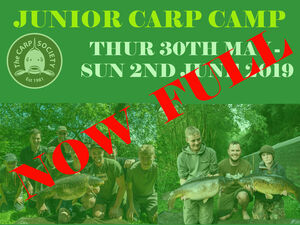 JUNIOR CARP CAMP 2019
