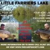 30% discount on winter fishing at Little Farriers Lake Dec18 - Feb19 #carpfishing
