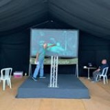 Marquee up, stage and screen set up, trade have arrived ... who's coming to the car society open weekend at horseshoe lake?
