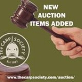 Visit the Carp Society website for auction items ahead of the open weekend