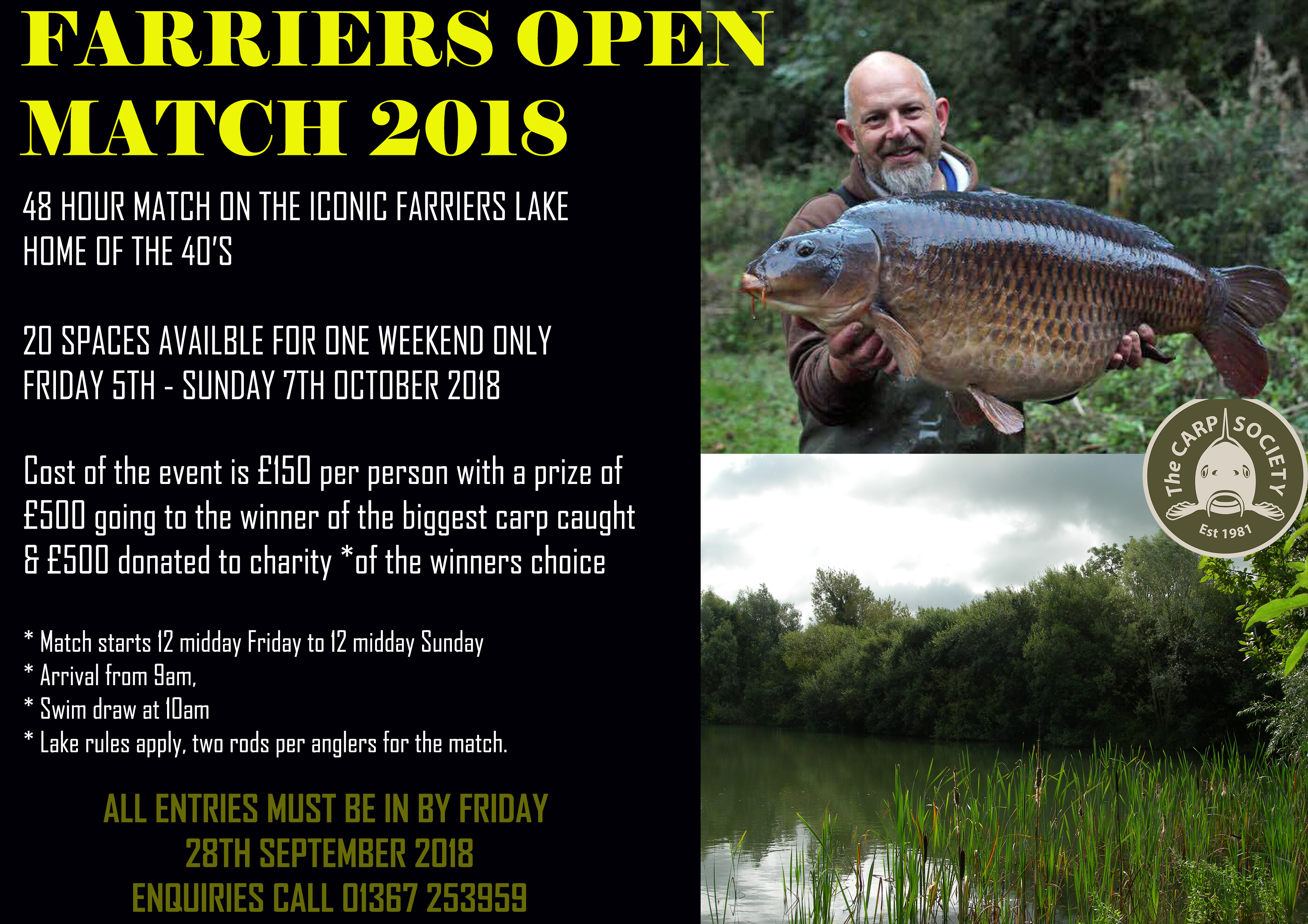 48 HOUR MATCH ON FARRIERS LAKE