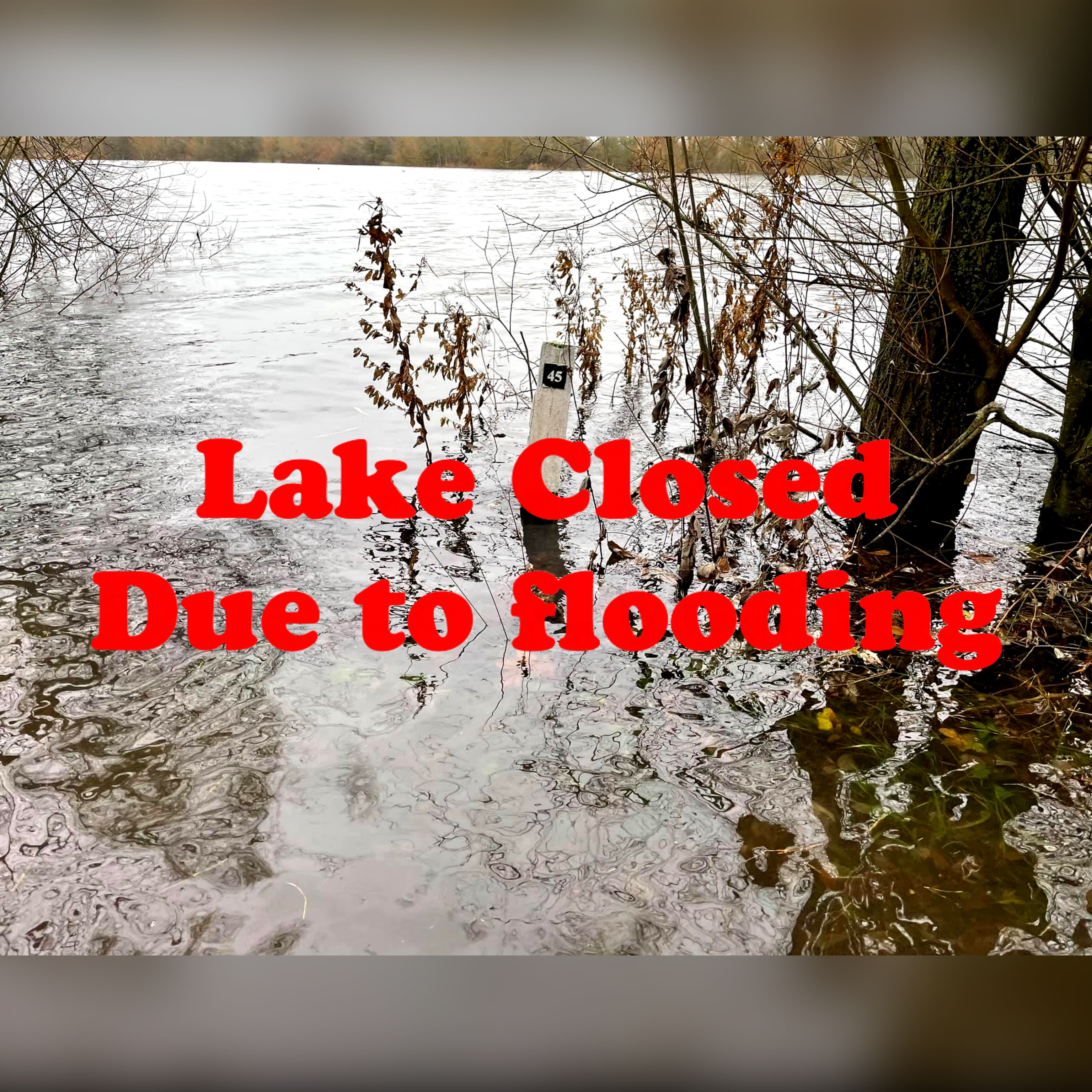 Important Lake Closed Due To Flooding